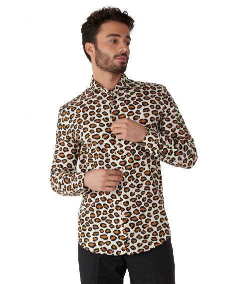 Smart skjorte fra OppoSuits med flot jaguar mønster.