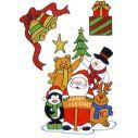 Store assorterede sæt med jule vinduestickers