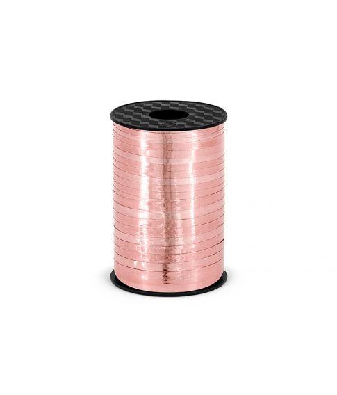 Rose gold metallisk gavebånd i plastik
