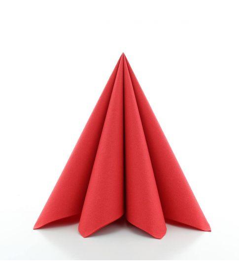Flotte røde papir servietter i kraftig kvalitet.