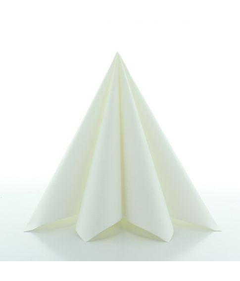 Flotte hvide papir servietter i kraftig kvalitet.