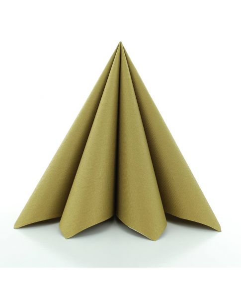 Flotte guld papir servietter i kraftig kvalitet.