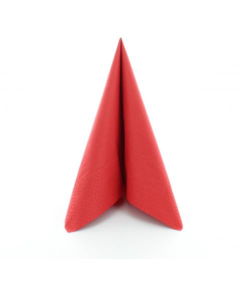 Flotte røde servietter til jul.