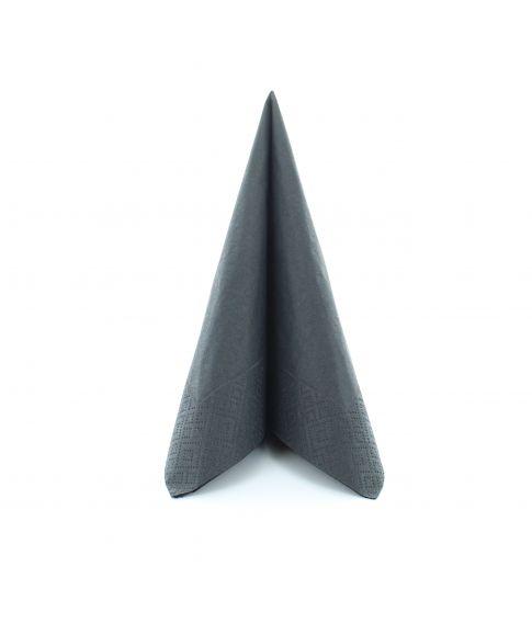 Flotte sorte servietter i 3 størrelser.
