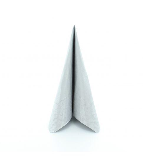 Flotte sølvfarvede servietter i papir.