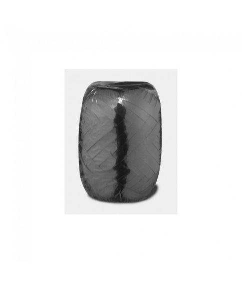 20 meter billigt sort gavebånd med metallic look