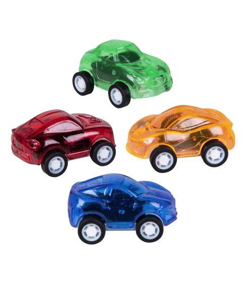 4 stk. små biler i forskellige farver.