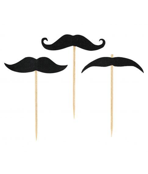 Madpinde med moustache.