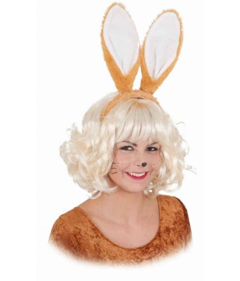 Flotte brune plyds kaninører på hårbøjle.