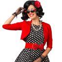 Rød bolero jakke til 50er udklædningen.
