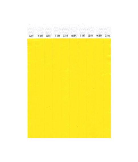 1000 stk gule festtegn adgangsarmbånd.