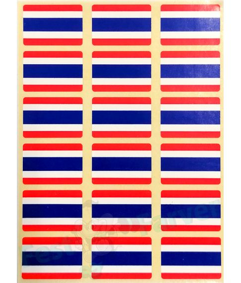 Ark med 18 thailandske flag klistermærker