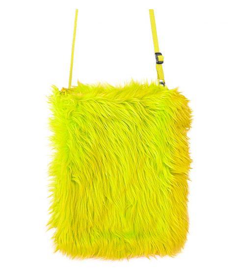 Flot neongul plys taske til 80er festen
