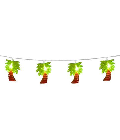 Lyskæde med 10 stk. palmetræer