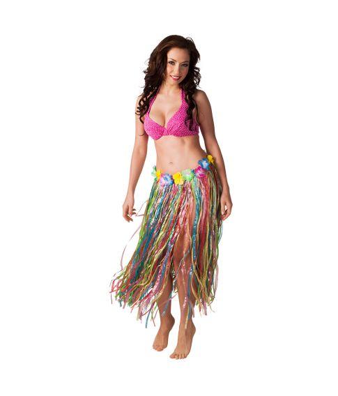 80 cm langt Bastskørt i flere farver til hawaii udklædningen