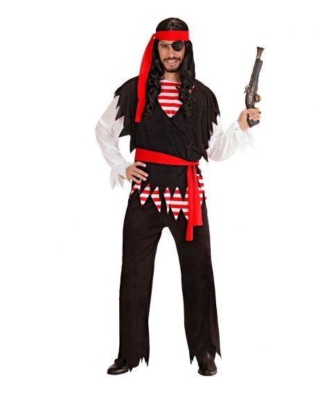 Flot Pirat kostume til mænd.