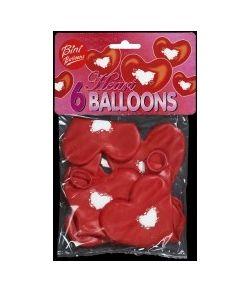 Hjerteballon m/ hjerter