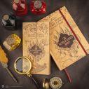 Flot dagbog og en flot kopi af Marauders kort med mange detaljer.
