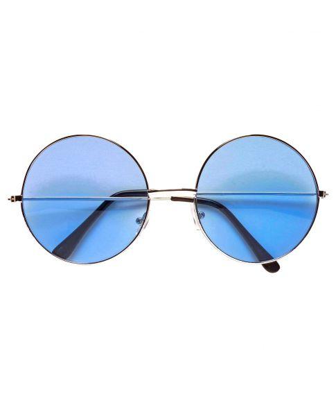 Blå briller til 70er udklædning.