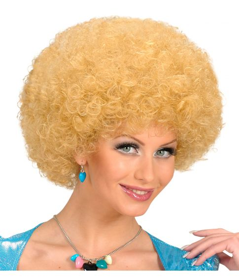 Blond afroparyk.