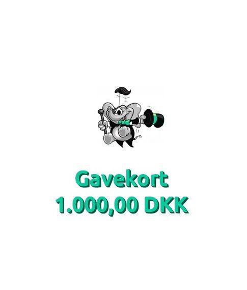 Gavekort 1.000,00 DKK