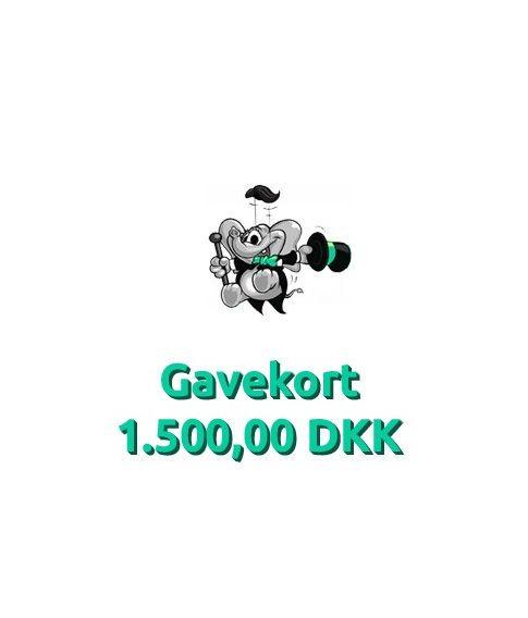 Gavekort 1.500,00 DKK