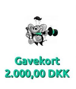 Gavekort 2.000,00 DKK