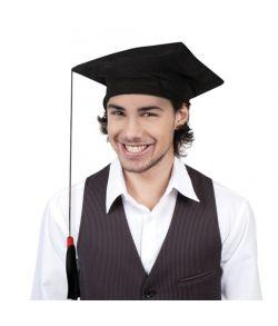 Graduerings hat i stof med lang kvast.