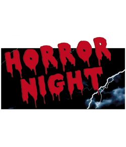 """Horror night"" skilt"
