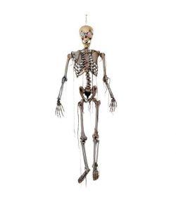 Skelet med lysende øjne