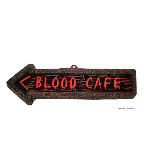 Blood Cafe skilt