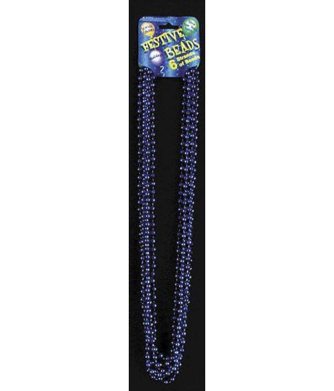 Perlehalskæde, blå
