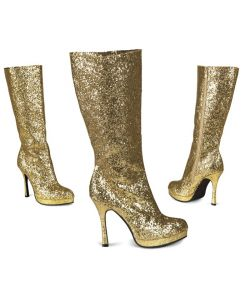 Støvler, guld glimmer