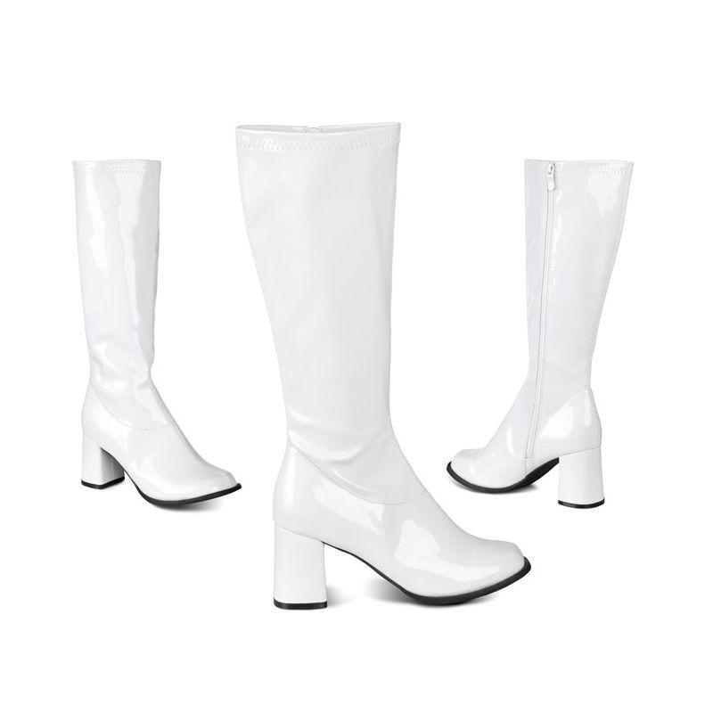 Stor støvlet hvid pige ridning pik