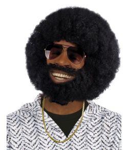 Afroparyk med skæg