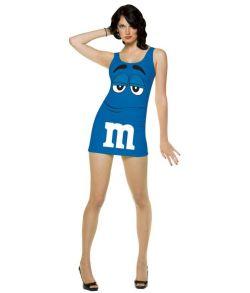 Blå M&Ms kjole