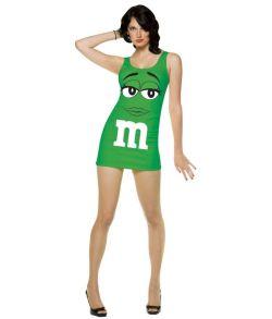 Grøn M&Ms kjole