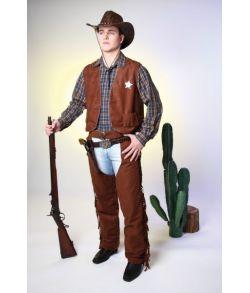 Cowboyvest, brun