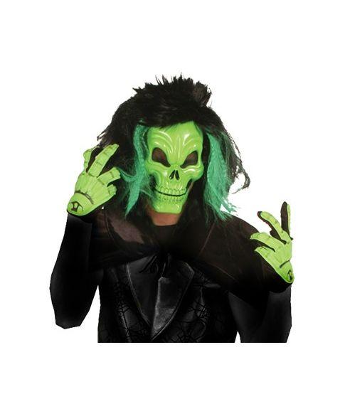 Grøn kraniemaske