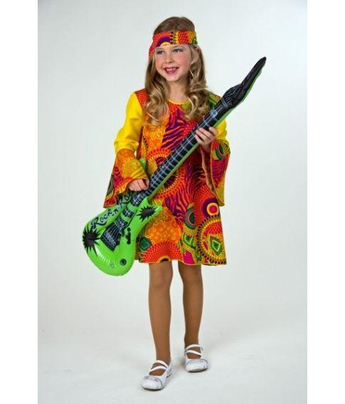 Hippiepige kostume