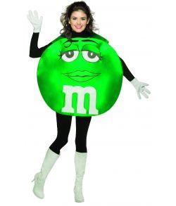 Grønt M&M kostume