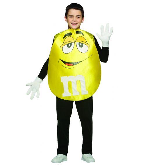 Gult M&M kostume