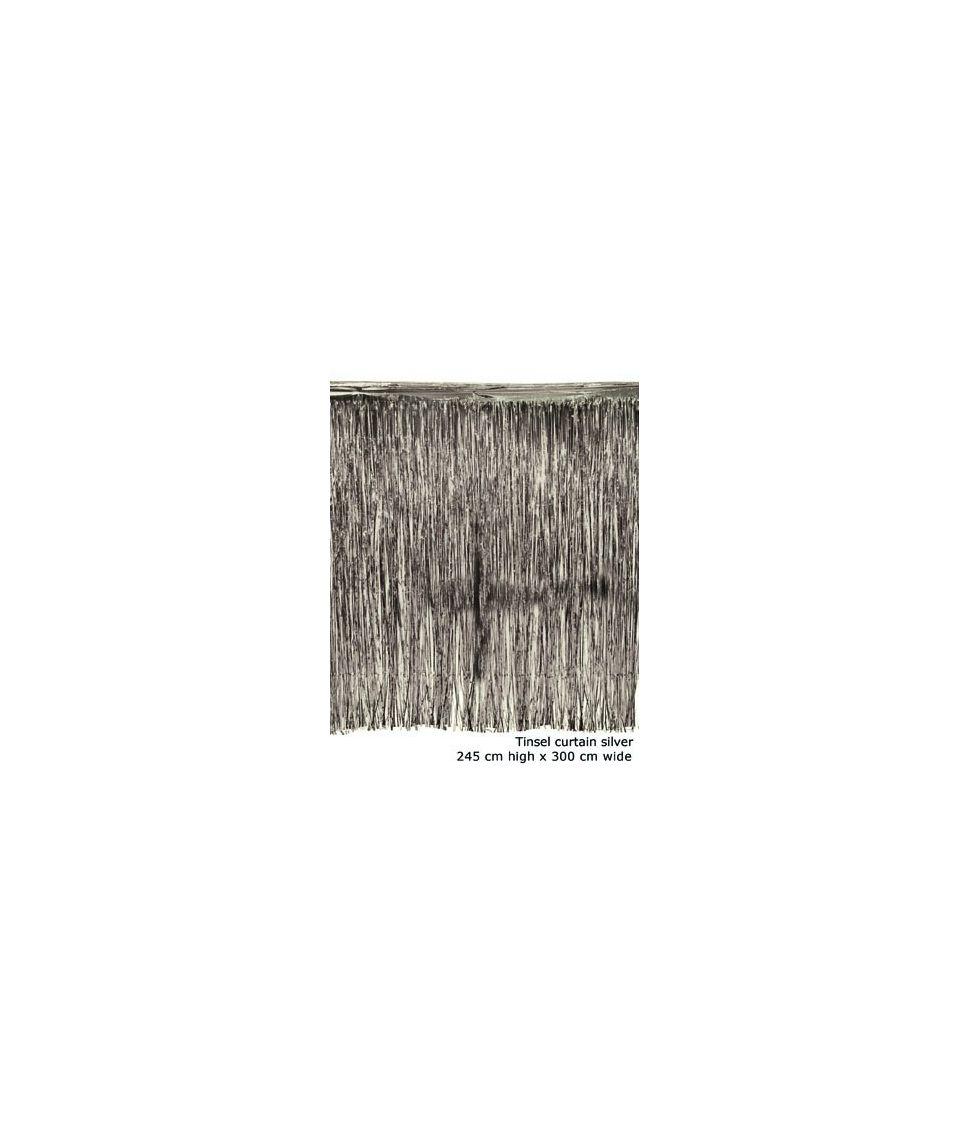 Sølv foliegardin, 3 m