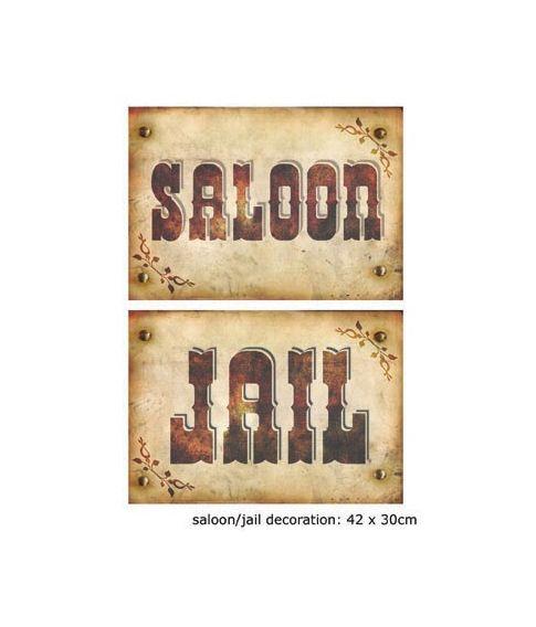 Jail / Saloon skilt