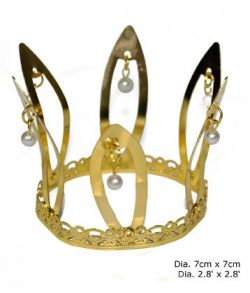 Krone med perler