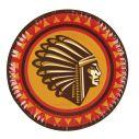 Indianer tallerken, stor