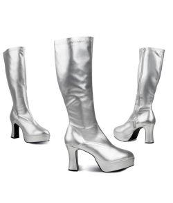 Sølv discostøvler