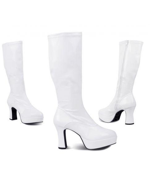 Hvide discostøvler