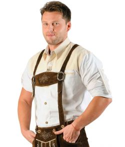 Tyrolerskjorte, hvid