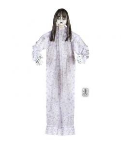 Uhyggelig dræber dukke til halloween dekoration, 90 cm.